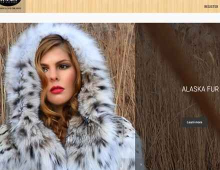 Alaska Website Design Sample Website - Alaska Fur Gallery