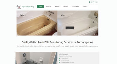 Alaska Tubs Refinishing website