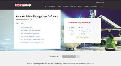 Aviation Safety Management Software website