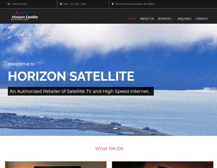 Alaska Website Design Work - Horizon Satellite